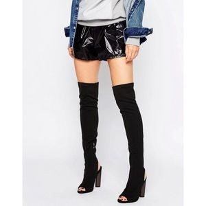 ASOS Shoes - ASOS Truffle Peep Toe Over the Knee Boot NEW 4/37